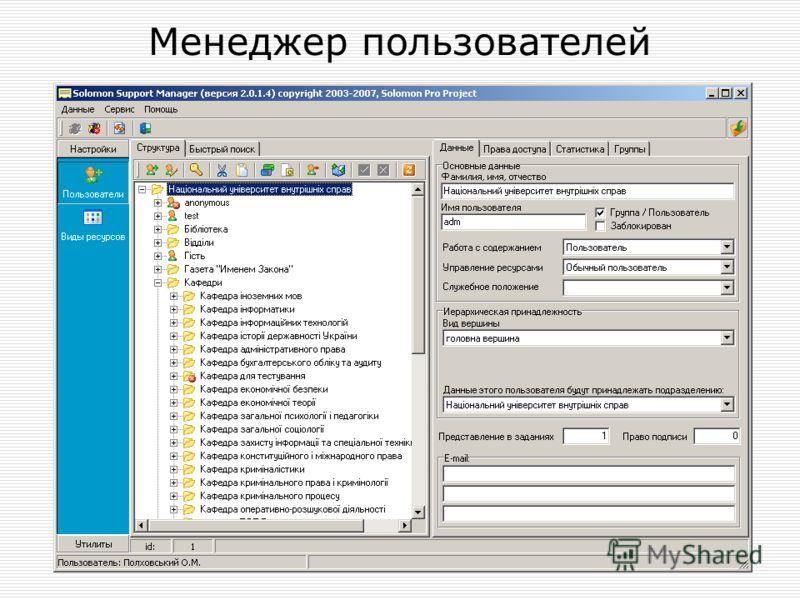 Менеджер пользователей