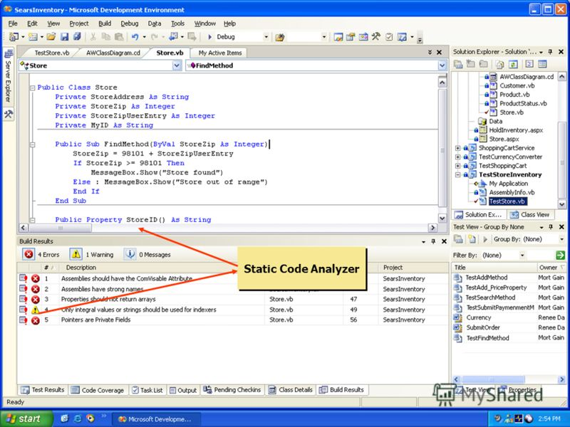 Static Code Analysis Static Code Analyzer