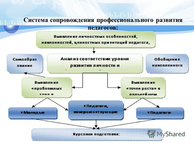 Система сопровождения профессионального развития педагогов: