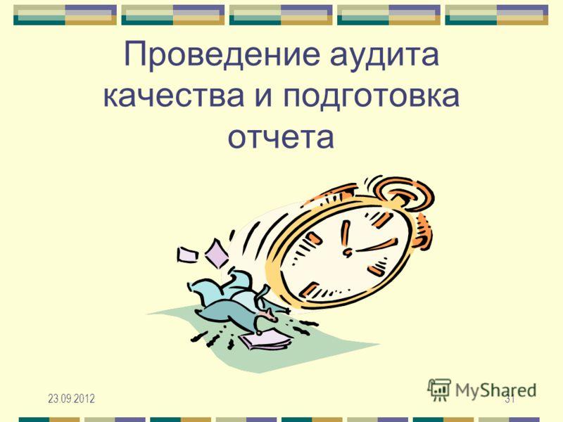 23.09.201231 Проведение аудита качества и подготовка отчета