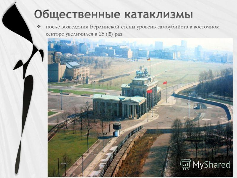 после возведения Берлинской стены уровень самоубийств в восточном секторе увеличился в 25 (!!!) раз
