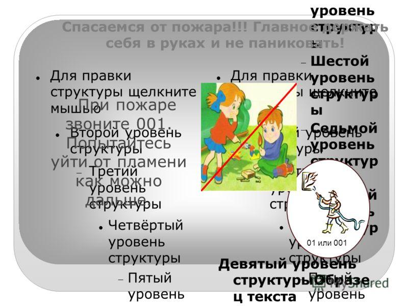 Для правки структуры щелкните мышью Второй уровень структуры Третий уровень структуры Четвёртый уровень структуры Пятый уровень структур ы Шестой уровень структур ы Седьмой уровень структур ы Восьмой уровень структур ы Девятый уровень структурыОбразе