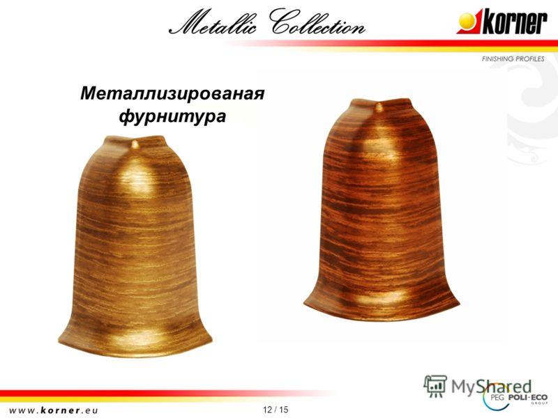12 / 15 Металлизированая фурнитура Metallic Collection