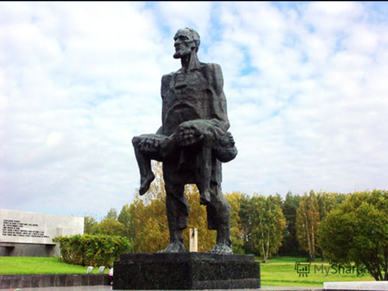 Этот трагический момент из жизни Иосифа Каминского положен в основу создания единственной скульптуры мемориального комплекса «Хатынь» «Непокоренный человек».