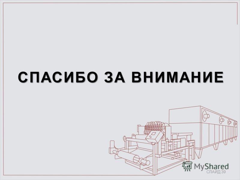 СПАСИБО ЗА ВНИМАНИЕ СЛАЙД 39