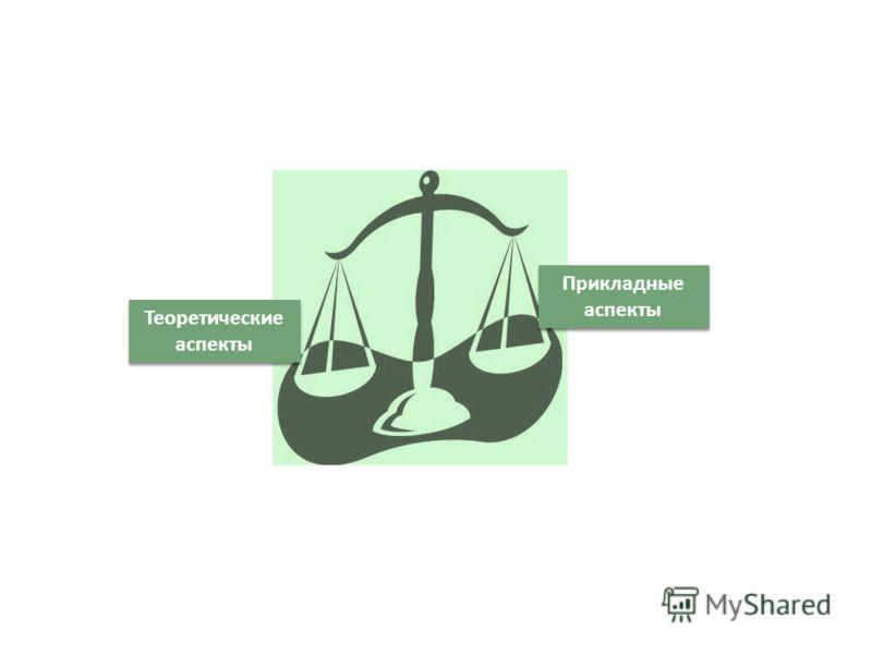 Теоретические аспекты Прикладные аспекты