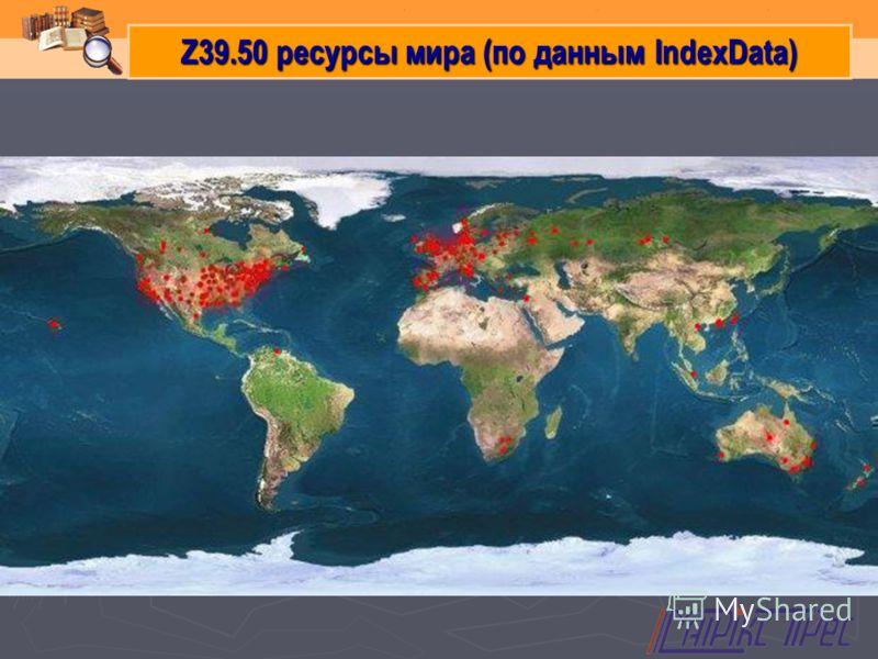 Z39.50 ресурсы мира (по данным IndexData)