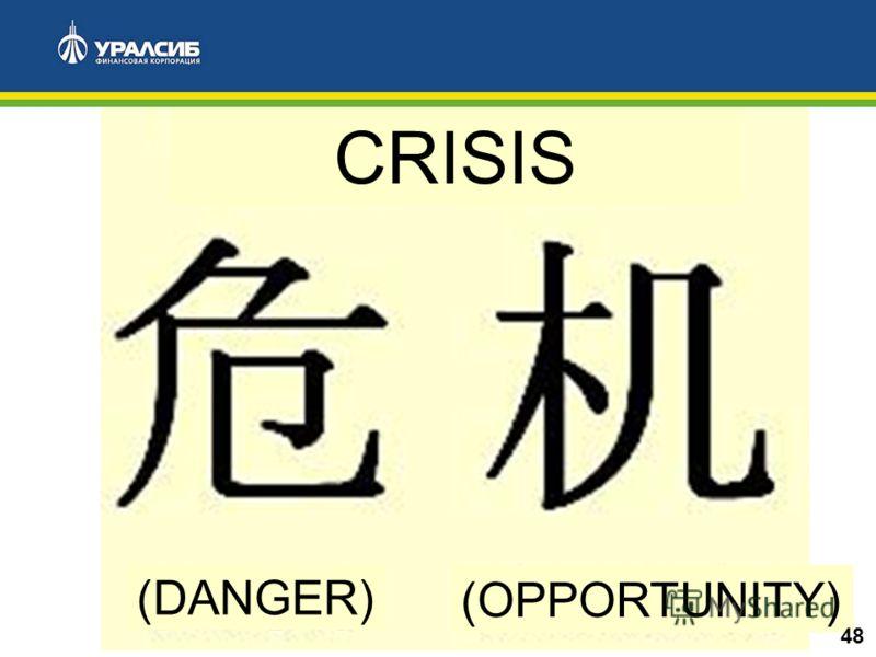 CRISIS (DANGER) (OPPORTUNITY) 48