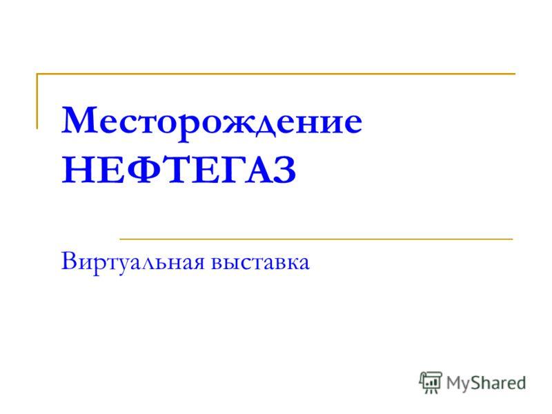 Месторождение НЕФТЕГАЗ Виртуальная выставка
