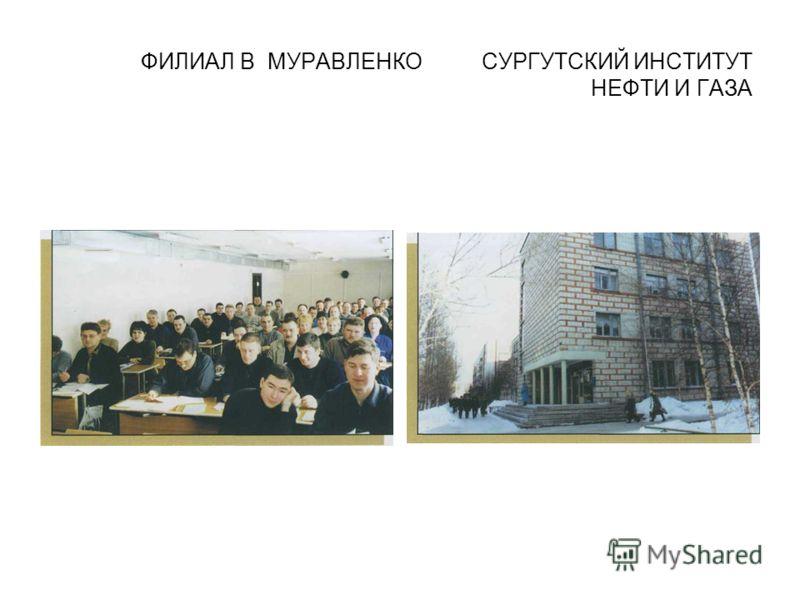 ФИЛИАЛ В МУРАВЛЕНКО СУРГУТСКИЙ ИНСТИТУТ НЕФТИ И ГАЗА