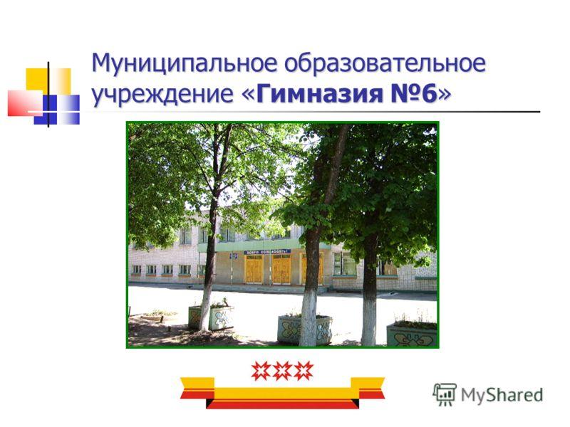 Муниципальное образовательное учреждение «Гимназия 6»