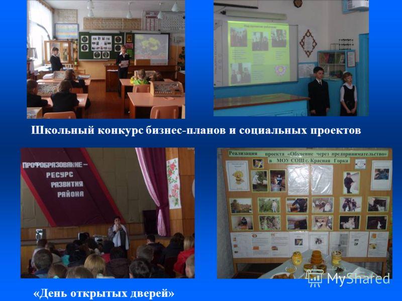 Школьный конкурс бизнес-планов и социальных проектов «День открытых дверей»