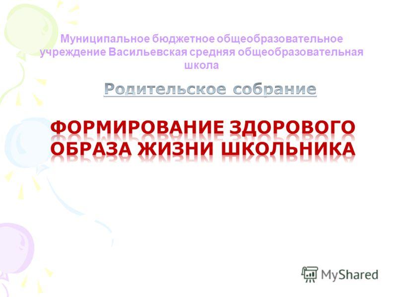 Муниципальное бюджетное общеобразовательное учреждение Васильевская средняя общеобразовательная школа