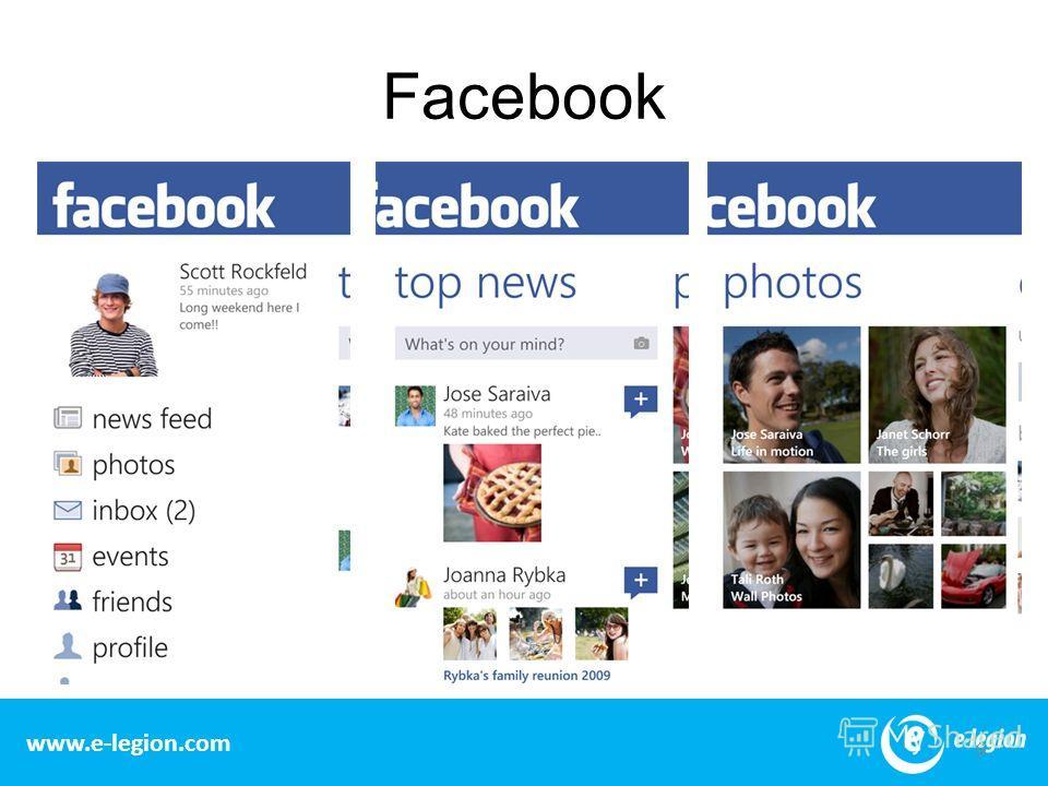 www.e-legion.com Facebook 9