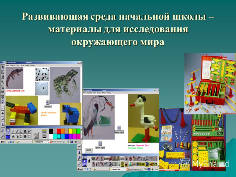 Развивающая среда начальной школы – материалы для исследования окружающего мира