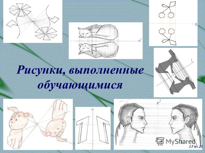 Рисунки, выполненные обучающимися 13 из 21