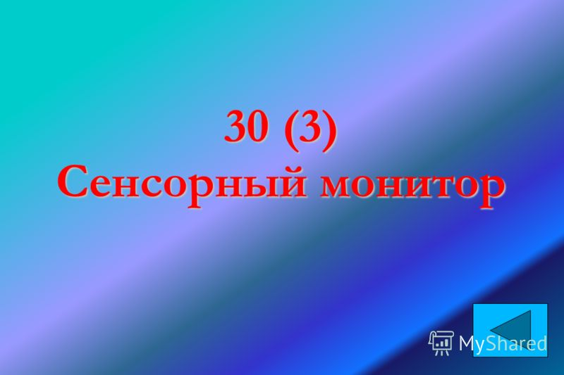 30 (3) Сенсорный монитор