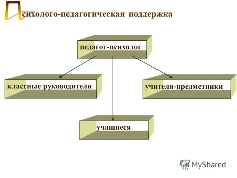 сихолого-педагогическая поддержка педагог-психолог классные руководители учителя-предметники учащиеся