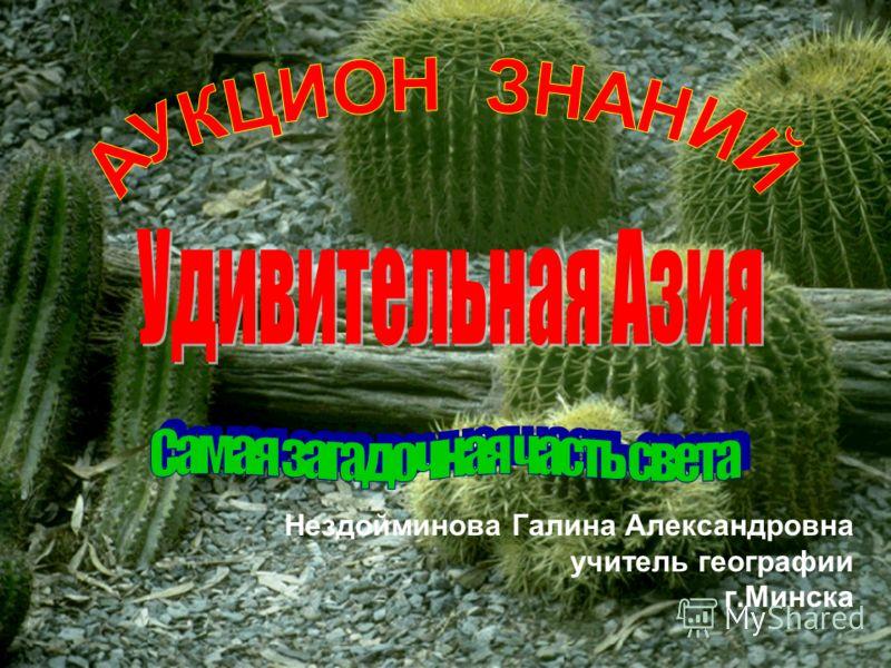 Нездойминова Галина Александровна учитель географии г.Минска