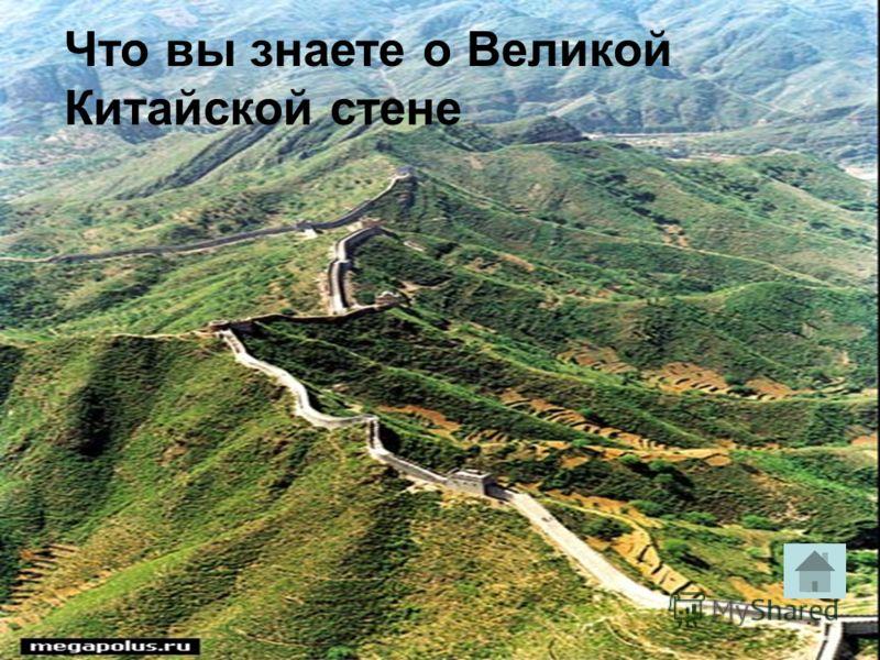 Что вы знаете о Великой Китайской стене