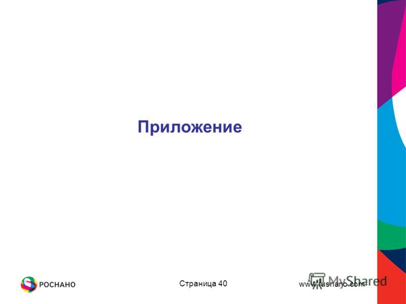 www.rusnano.com Страница 40 Приложение