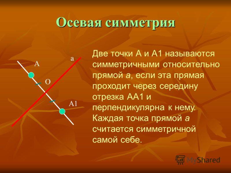 Фигура называется Фигура называется центрально- симметричной относительно точки О, если для каждой точки фигуры симметричная ей точка относительно точки О также принадлежит этой фигуре. Точка О называется центрально- симметричной относительно точки О