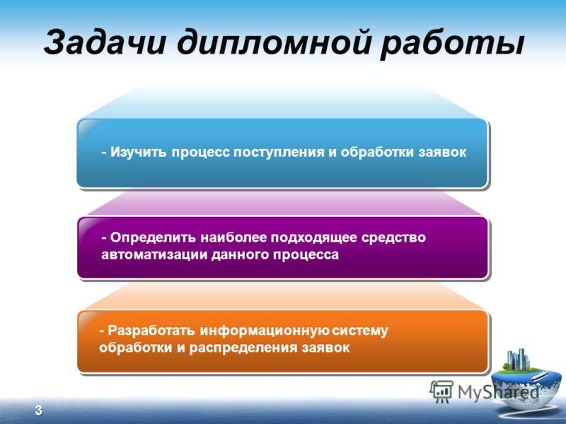 Презентация на тему Дипломная работа Разработка информационной  3 Задачи дипломной работы Изучить