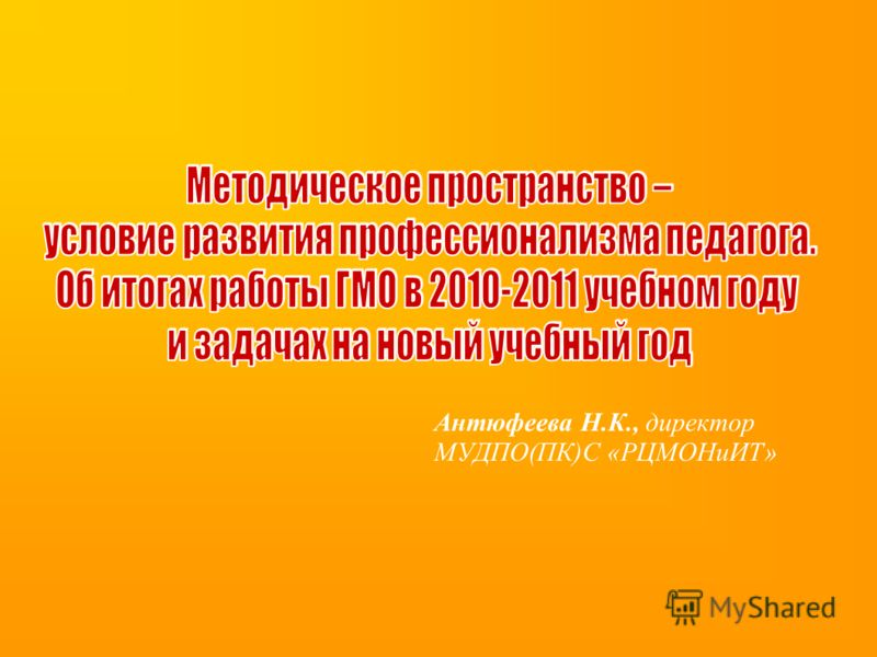 Антюфеева Н.К., директор МУДПО(ПК)С «РЦМОНиИТ»
