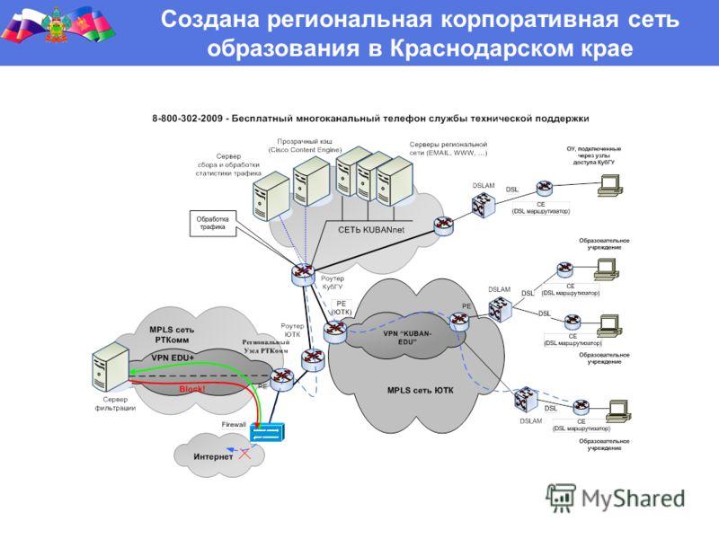 Создана региональная корпоративная сеть образования в Краснодарском крае
