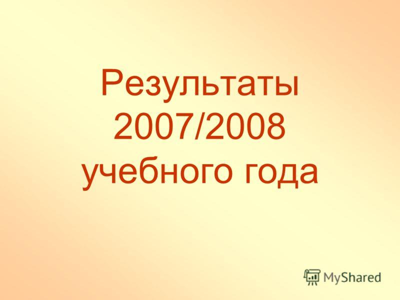 Результаты 2007/2008 учебного года