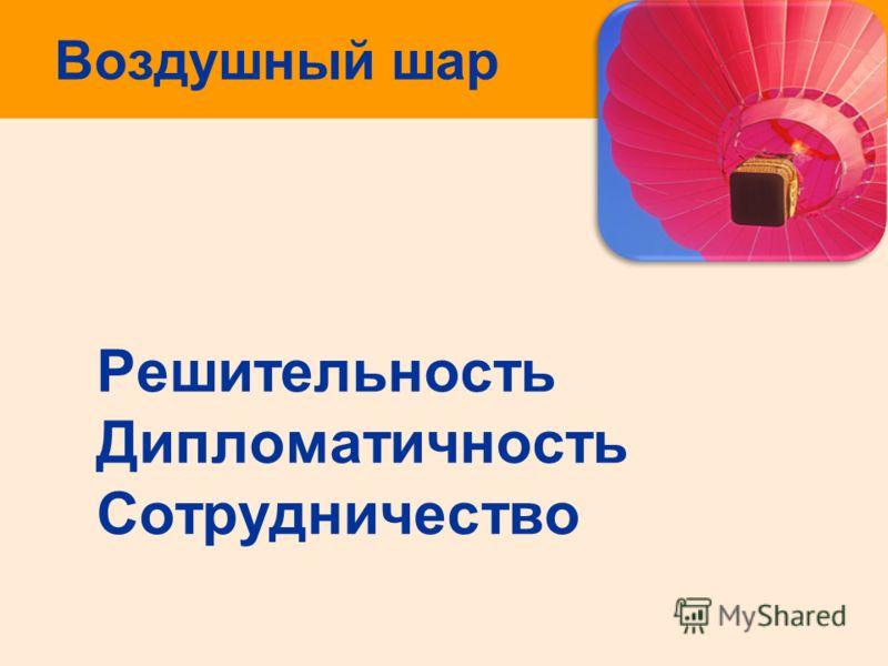 Воздушный шар Решительность Дипломатичность Сотрудничество