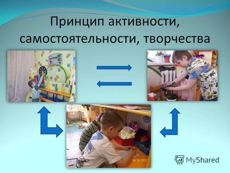Принцип активности, самостоятельности, творчества