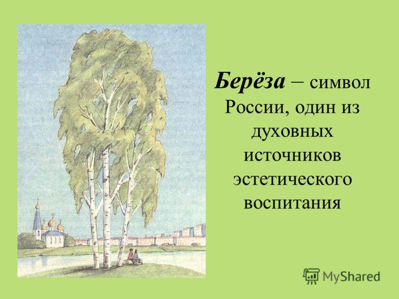 Берёза – символ России, один из духовных источников эстетического воспитания
