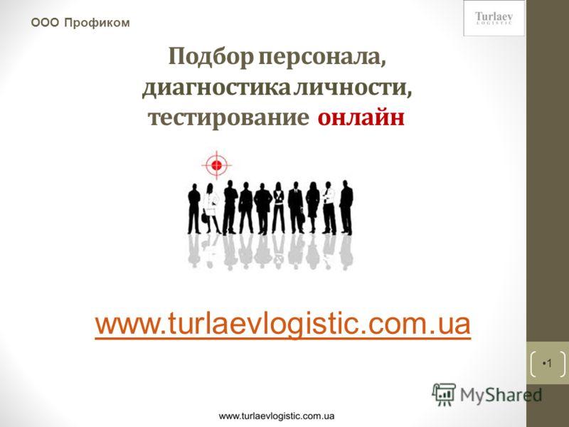 Подбор персонала, диагностика личности, тестирование онлайн 1 ООО Профиком www.turlaevlogistic.com.ua