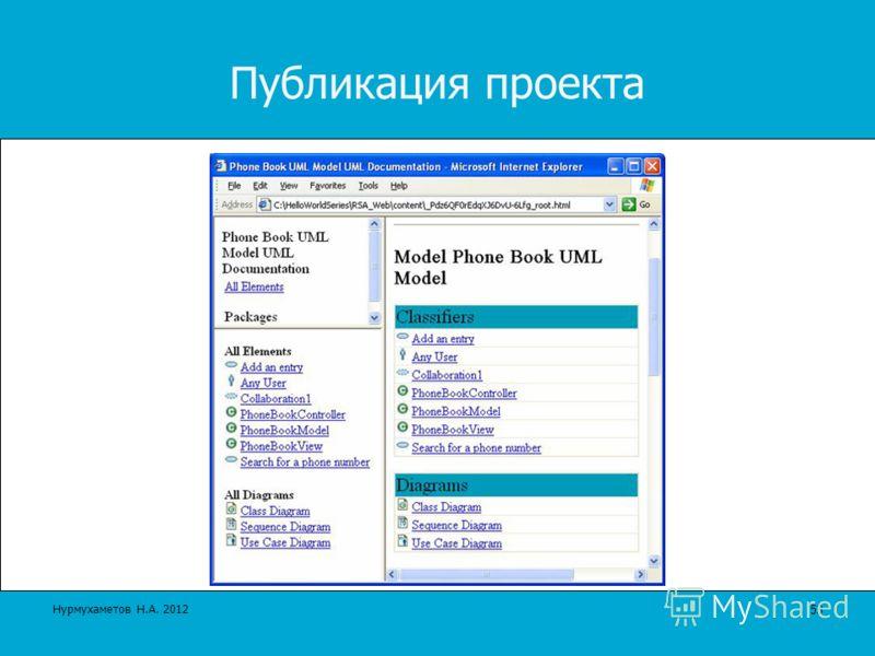 Публикация проекта 53 Нурмухаметов Н.А. 2012
