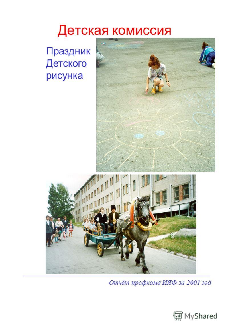 Отчёт профкома ИЯФ за 2001 год Детская комиссия Праздник Детского рисунка
