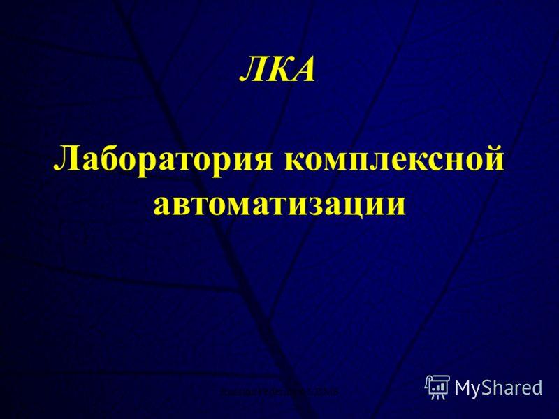 Russian Federation CDMS1 ЛКА Лаборатория комплексной автоматизации