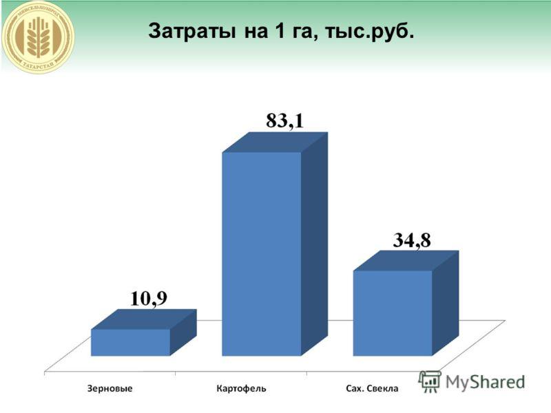 Затраты на 1 га, тыс.руб.