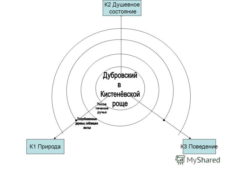 К1 ПриродаК3 Поведение К2 Душевное состояние