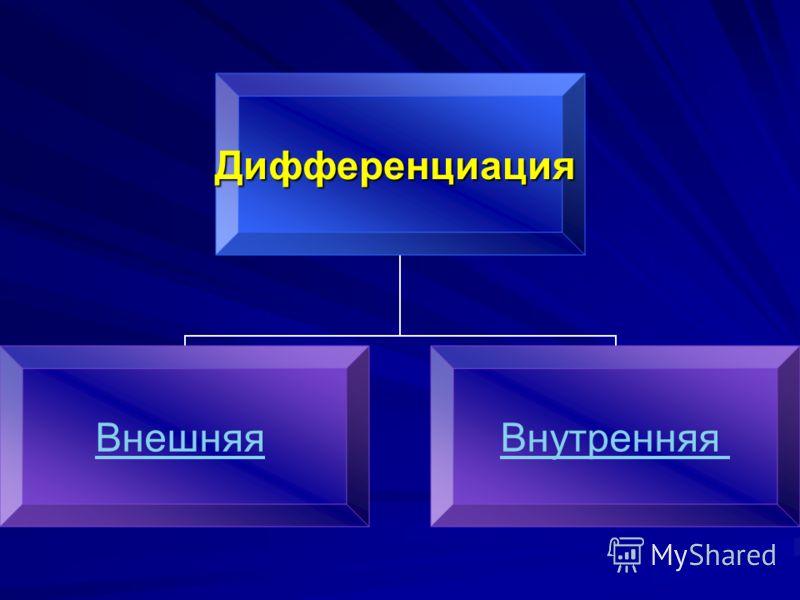 Дифференциация ВнешняяВнутренняя