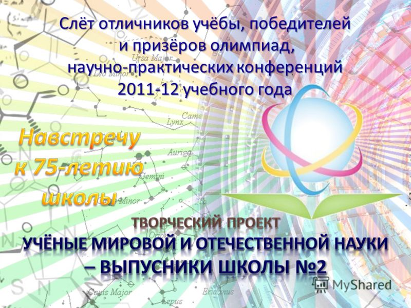 Слёт отличников учёбы, победителей и призёров олимпиад, научно-практических конференций 2011-12 учебного года