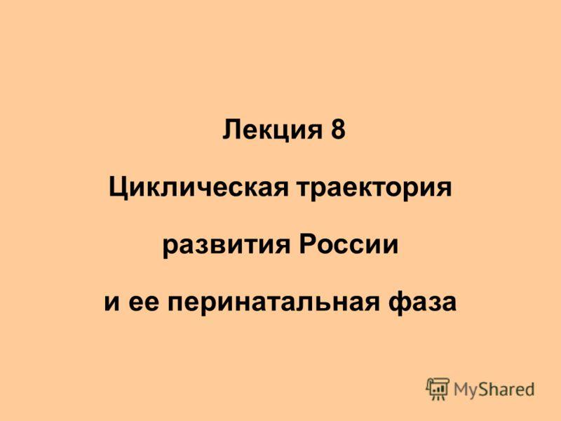 Лекции 7-8 Циклическая траектория развития России 1. Лекция 8 Циклическая траектория развития России и ее перинатальная фаза