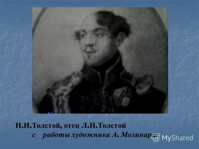 Н. И. Толстой, отец Л. Н. Толстой с работы художника А. Молинари.