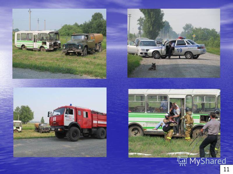 Тренировка органов управления и сил района по ликвидации последствий ДТП с тяжелыми последствиями на автомобильной дороге 10