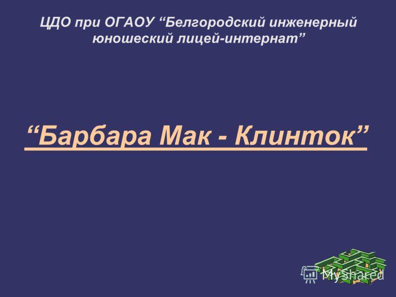 ЦДО при ОГАОУ Белгородский инженерный юношеский лицей-интернат Барбара Мак - Клинток