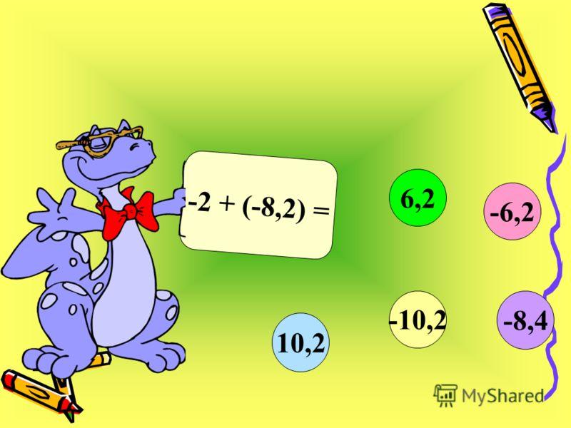 -2 + (-8,2) = -6,2 6,2 10,2 -10,2 -8,4