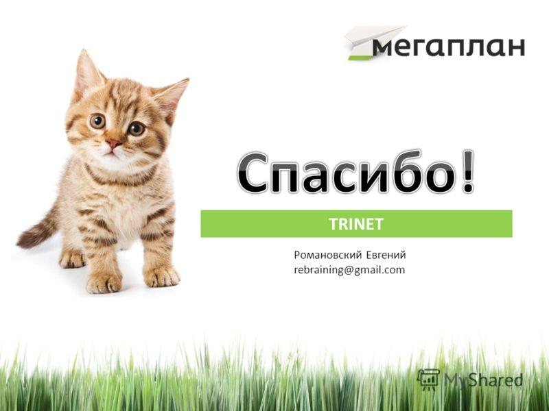 TRINET Романовский Евгений rebraining@gmail.com