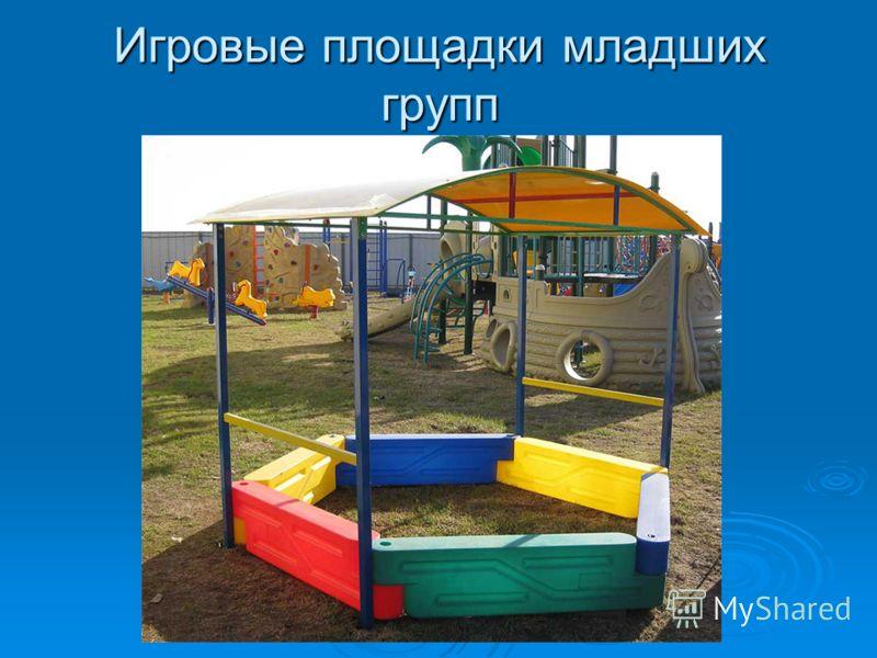 Игровые площадки младших групп
