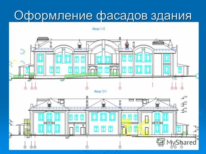 Оформление фасадов здания