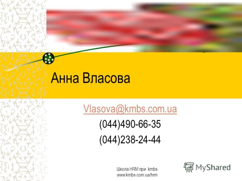 Школа HRM при kmbs www.kmbs.com.ua/hrm Вопросы?
